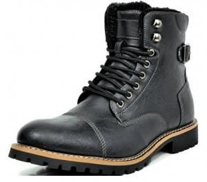 Imagem do Produto Bota BRUNO MARC TORONTO-1 Men´s Classic Original Faux Leather Lace Up Cap Toe Military Com