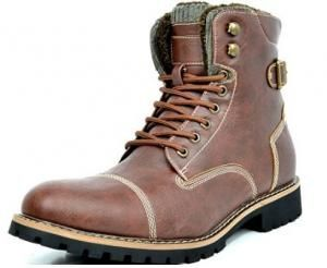 Imagem do Produto Bota BRUNO MARC TORONTO-1 Men´s Classic Original Faux Leather Lace Up Cap Toe marron claro