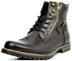 Imagem do Produto Bota Bruno MARC PHILLY Men´s Formal Classic Cap Toe Vintage Laced Up Side Zipper Military